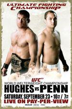 UFC 63 Matt Hughes vs BJ Penn Sports Poster 12x18