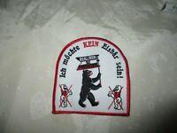 """Berliner SC Preussen Eishockey Aufnäher """"Ich möchte KEIN Eisbär sein"""" TOP"""