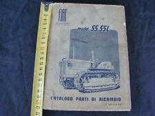 CATALOGO PARTI DI RICAMBIO ORIGINALE TRATTORE FIAT CINGOLATO 55 55L 1954 4°EDIZ