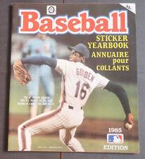 1985 Mlb O-Pee-Chee Baseball Stickers Empty Album
