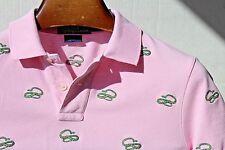 Polo Ralph Lauren M Pink Snake Motif Cotton Short Sleeve Polo Shirt