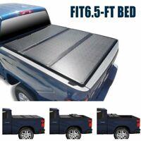 SUPER DRIVE Hard Tri-fold Tonneau Cover Fits 2007-2013 Chevy Silverado 6.5ft Bed