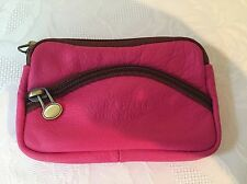 Soft Leather Purse In Bright Pink Great For Small Bags.