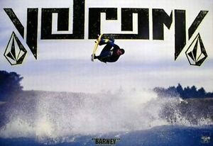"""VOLCOM 2004 Shawn """"Barney"""" Barron SURF promotional poster Flawless NEW old stock"""