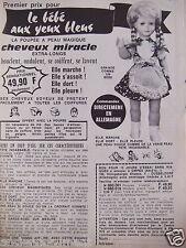 PUBLICITÉ 1970 JOUET LE BÉBÉ AUX YEUX BLEUS LA POUPÉE MAGIQUE