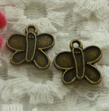 free ship 180 pieces bronze plated butterfly charms 15x14mm #2271