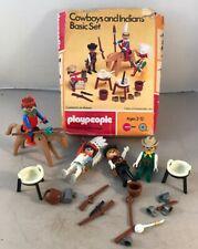 Playpeople Playmobil Cowboy and Indians basic set Retro Western 1974