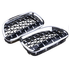 Chrome Front Diamond Style Grill Grille For BMW 5-Series F10 F11 2010-2016
