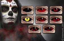 Crazy & Fun Halloween Karneval - Sclera Kontaktlinsen 22 mm - 1 Stück + Behälter