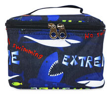 Jenzys Shark Cute Small Designer Travel Girls Cosmetic Makeup Bag Case Make Up