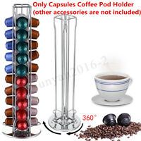 40 Coffee Capsule P-od Holder Tower Stand Rack For Nespresso Revolving