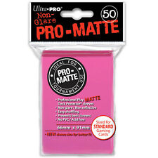 Ultra Pro Sleeves Pro-matte D12 Card Game Bright Pink