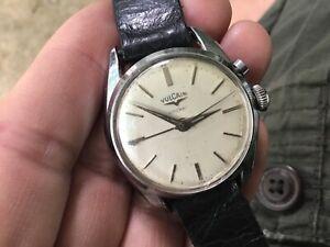 Old Vulcain Hand Wind Cricket Alarm Men's Wristwatch For Repair