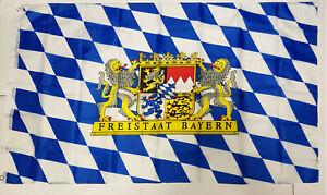 SB Fahne Freistaat Bayern  Flagge 90x150 cm Hissflagge mit Ösen   NEU