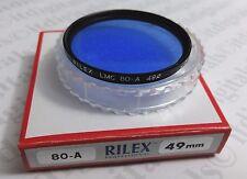 Professional 49mm 80A 80-A Light Balancing Glass Lens Filter 49 mm Japan 80 A