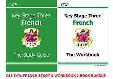 KS3 FRENCH STUDY GUIDE & WORKBOOK WITH ANSWER 2 BOOKS IN 1 FUN BUNDLE