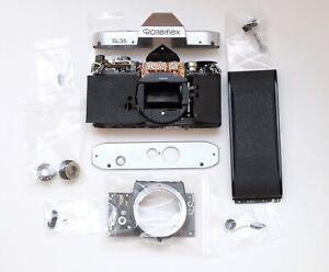Rolleiflex SL35 Spare Parts - Rewind lever, self timer, top / bottom plate, back