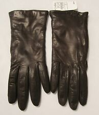 Neiman Marcus Brown Leather/Cashmere Lined Ladies Gloves Size 7, Italy
