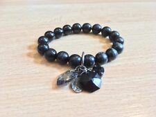 KRYSTAL LONDON Black Beads Bracelet Costume Jewellery Jewelry Crystal