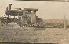 Antique AVER Farm Industry Equipment Tractor Real Photo RPPC Post Card