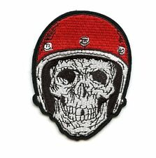 LARGE SKULL WITH HELMET Patch perfect for Leather Vest