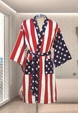 American Flag Kimono Robe Terry Velour 100%Cotton