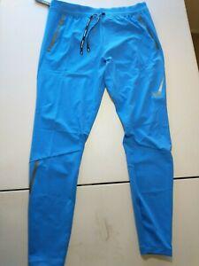 Nike Men's Swift Flex Reflective Running Pants Brisk Blue BV4809-402 sz Med NWT