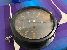 Ww2 Black Chelsea Ships Clock Co. U.S. Navy Works 8�