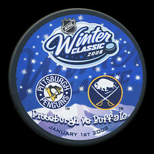 2008 WINTER CLASSIC DUEL PUCK Sabers vs  Penguins