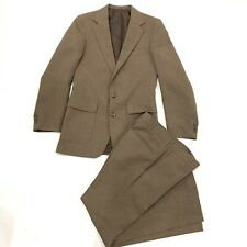 Levis Action Mens Brown Long Sleeve Suit With Pants Size 36 Regular