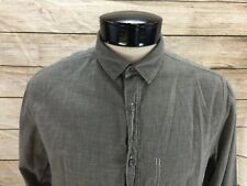 William Rast Button Front Shirt Mens M Gray