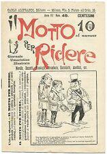 SATIRA-UMORISMO_Il Motto per Ridere_Ed. Aliprandi_Anno IV  N.49, 1892*_FORNARI