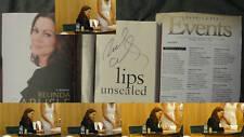 Belinda Carlisle Lips Unsealed Signed Book 1/1 DJ HC Go Gos Memoir Pics Flier
