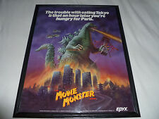 THE MOVIE MONSTER GAME DEALER POSTER TOKYO GODZILLA 1986 TOHO EPYX COMMODORE 128