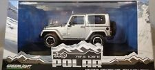 POLAR SPECIAL SILVER 2014 JEEP WRANGLER GREENLIGHT 1:43 SCALE DIECAST METAL CAR