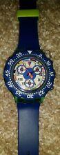 Swatch 1994 blue blue sbn101 aquachrono authentic swiss made