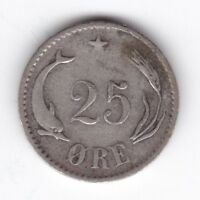 1874 Denmark 25 Ore | Pennies2Pounds