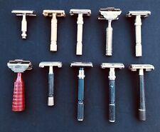 Vintage Safety Razor Lot Of 10 Gillette EverReady Treet