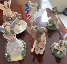 The Fairy Collection Dezine Lot Of 6 Teacup,Liberty,Pondering, Birthday,made Usa