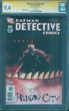 Batman Detective Comics 876 CGC SS 9.4 Scott Snyder Gold Signed Jock art 6/2011