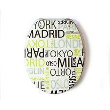 Loo with a View - City Names, Poly Resin Decor Toilet Seat, EU103