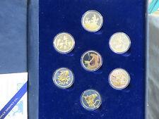 RARE Disney Fantasia 50th Ann. Silver and Gold Proof LTD 7-Coin Set w/COA
