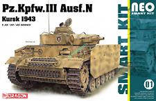 DRAGON 6559 1/35 '19-45' SERIES  MODEL PZ.KPFW.III AUSF.N KURSK 1943 TANK MODEL.