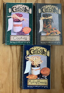 Gifts In A Jar Book Lot -muffin breads , Soups, Cookies Homemade Christmas