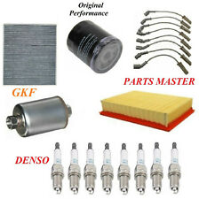Tune Up Kit Air Cabin Oil Fuel Filters Wire Spark Plug for CHEVROLET SUBURBAN 2500 V8 8.1L 2004