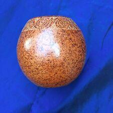 VINTAGE MATA ORTIZ PUEBLO POTTERY SPIRAL JAR VASE - UNSIGNED - MOTTLED CLAY