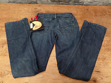 Fortune Denim Jeans Beijing Belle Boot Cut Designer Satin Waist Sz 26 x 33 NWT