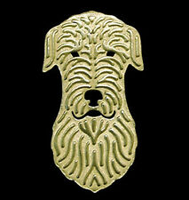 Irish Wolfhound Dog Brooch or Pin -  Fashion Jewellery - Gold Plated
