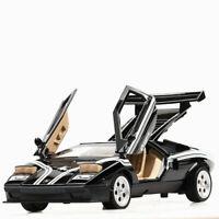 1/32 Diecast Lamborghini Countach Sport Classic Car Model Black race cars Model