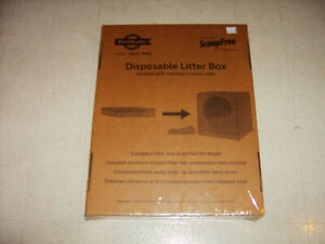PETSAFE Disposable Cat Travel Litter Box with Litter. NEW IN BOX.
